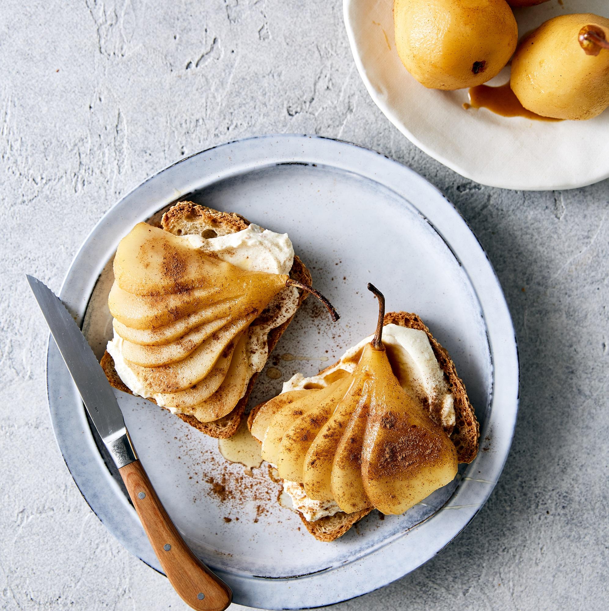 pear with Riccota